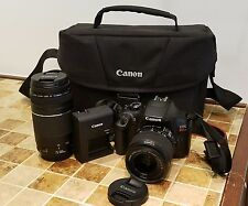 Canon  EOS Rebel T6 DSLR Camera Bundle  18-55mm 75-300mm Lenses & Camera Case BK