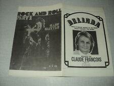 CLAUDE FRANCOIS GARY GLITTER PARTITION MUSICALE FRANCE AFRIQUE BELGIQUE (2)