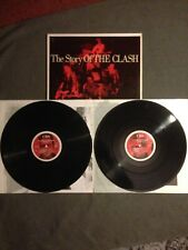 """The Clash """" The Story Of The Clash """" Lp double vinyl + inners PuNk original"""