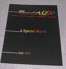 NASA Project LASER 1991 Booklet 16 Pages Learning Science Engineering Research