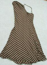 Brown White Dress Women's Jones New York Spaghetti Straps Size 14 Fourteen
