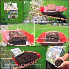 FibreDust Coco Coir Pith Block Husk Coconuts Peat Moss Substitute Soil Potting