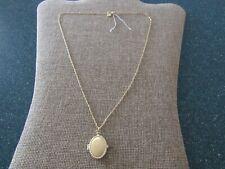 Gorjana Bali Antique Locket pendant Necklace 18k gold Plated