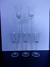 Set of 5 2 oz flared bowl cordial glass