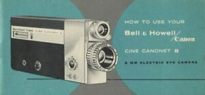 Bell & Howell Canon Cine Canonet 8 Instruction Manual Original