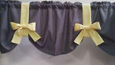 Gray with Yellow Teal Aqua Pink Choice Custom Handmade Window Curtain Valance