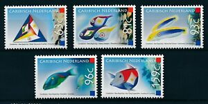 [CA002] Caribbean Netherlands 2011 Fishes and Flags MNH