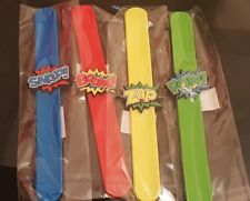 Super Hero Snap Bracelets - Pinata Toy Loot/Party Bag Fillers-Free UK Delivery