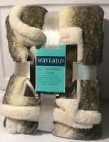 """WAYLAND SQUARE DELUXE SHERPA THROW 50"""" X 60"""" - BRAND NEW BLANKETS"""