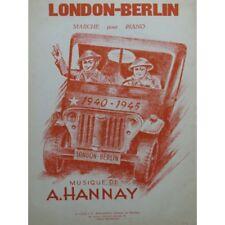 HANNAY A. Londres-Berlín Piano ca1945 partitura sheet music score