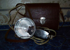 Vintage 60s USSR  PHOTO-FLASH CHAIKA С/ SEAGULL S in original leather case-bag