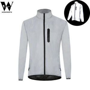 High Visibility Jacket 360 Reflective Cycling Waterproof Waterproof Running Coat