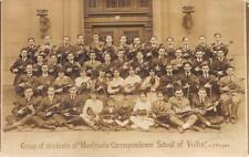 RPPC Monfried's Correspondence School of Violin Students NY ca 1910s Postcard