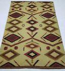 Vintage Hand Made Traditional Kashmiri Multicolor Wool Rug Carpet 271x178cm