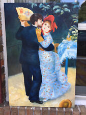 """Oil Paintng-RENOIR REPLICA New/Stretched--24""""x36"""" """"DANCE IN THE COUNTRY"""""""