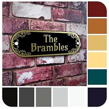 PERSONALISED Decorative House Address Plaque Number Sign Name Door Plate