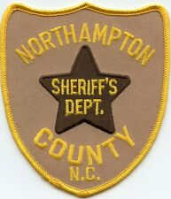 NORTHAMPTON COUNTY NORTH CAROLINA NC Light Brown Background SHERIFF POLICE PATCH