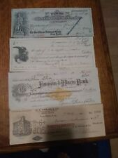 Interesting collection of cancelled checks
