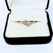 Womens 10k Diamond Double Heart Ring White Gold 1.8  grams Size 6