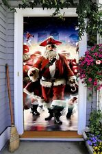 Best Front Door Cover Christmas Decor 3D Banner Holiday Decor for House ON23