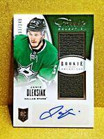 2013-14 Jamie Oleksiak Rookie Patch Autograph /249 RPA Auto Card is Excellent