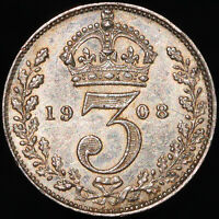 1908 | Edward VII Threepence | Silver | Coins | KM Coins