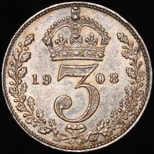 More details for 1908 | edward vii threepence | silver | coins | km coins