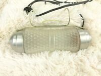 FROSTED GLASS HANGING HOOK LAMP LIGHT FIXTURE VINTAGE MID CENTURY Night light