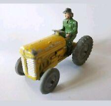 Vintage Benbros Qualitoys Ferguson Tractor yellow type 1 & green woman driver