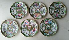 Set of Six Chinese Porcelain Plates Rose Medallion Canton Famille