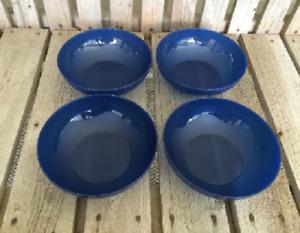 upperware Open House Floresta Bowls Set Of 4 in Colbolt Blue 24 Oz NEW