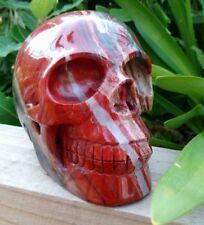 Red Jasper Gemstone Carved Skull. 2151g