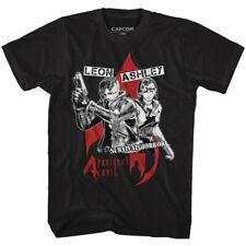 Resident Evil 4 Leon Ashley Men's T Shirt Survival Horror Reinvented Zombie Top
