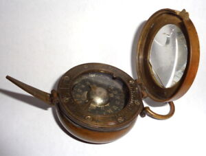ANTIQUE CREAGH OSBOURNE COMPASS MADE BY H. HUGHES LONDON, it works