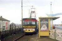 PHOTO  1994 BLACKPOOLTRAM NO 93 AT AIRPORT STARR GATE THE SOUTHERN TERMINUS OF T