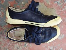 RARE RUDOLF DASSLER NAVY LEATHER SHOES SNEAKERS PUMA GOOD CONDITION 38 7-7.5 M/B