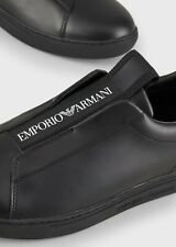SCARPA EMPORIO ARMANI UOMO SHOES SNEAKER SLIP ON IN PELLE COLL. P/E 2020