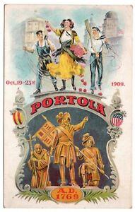 Portola Festival Oct. 19-23rd 1909 A.D. 1769 San Francisco CA Vintage Postcard