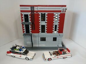 LEGO Ghostbusters Firehouse Headquarters Fire Division 75827 w/Cars *READ*