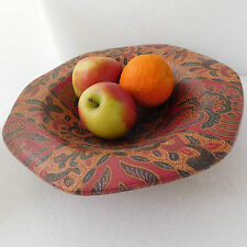 Paisley fruit bowl Unusual heavy plate with Paisley pattern covering