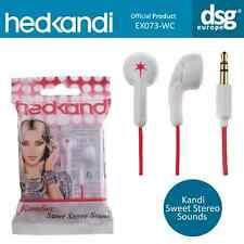 Hed Kandi EX073 Kandies Sweet Stereo Sound In-Ear Earphones Buds - White