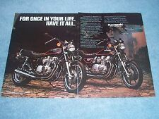"""1982 Kawasaki KZ750 1000LTD Vintage Motorcycle Ad """"For Once In Your life..."""""""