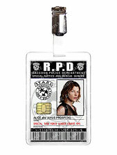 Resident Evil Raccoon Police Alice ID Badge Zombie RPD Cosplay Prop Comic Con
