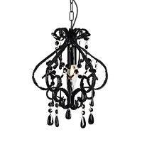 Shabby Chic Black DARLING Chandelier Crystal Beaded Light New Bedroom Lighting