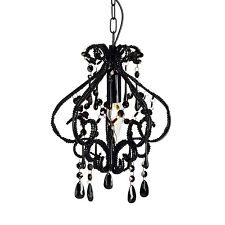 Shabby Chic Black DARLING Chandelier Crystal Beaded Light New Bedroom Lighting