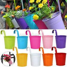 Mini Flower Pot Hanging Balcony Garden Planter Metal Hook Iron Bucket Decor Hot