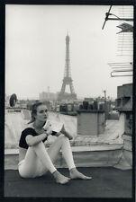 Photo Jean François Jonvelle Tirage Original Modèle Paris Tour Eiffel Vers 1980