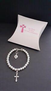 First Holy Communion Bracelet + Cross Charm + Gift box