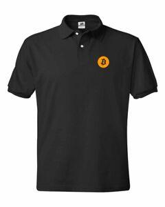 Bitcoin Logo Cryptocurrency Polo Shirts S-5XL