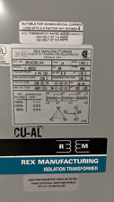 Rex Manufacturing Isolation Tran 14KVA 3PH PRI:220v SEC 400v DA14C2N1/K4